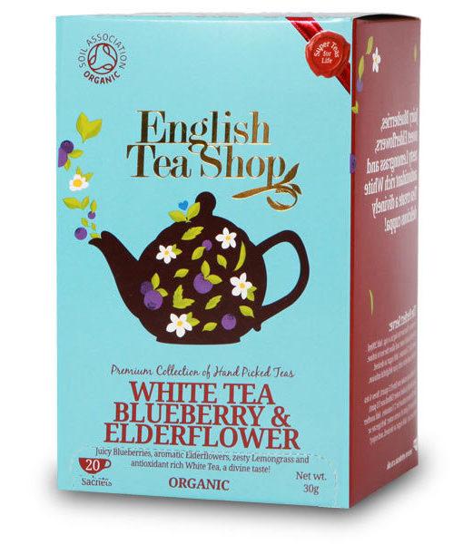 English Tea Shop Organic White Tea Blueberry & Elderflower 20 bags