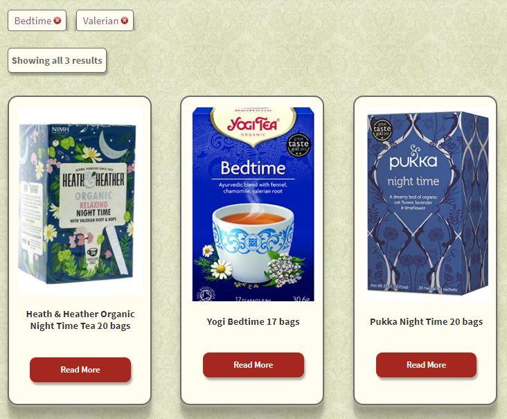 Find organic tea